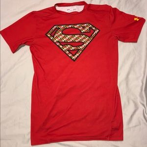Compression Heat Gear Shirt Red Maryland Superman